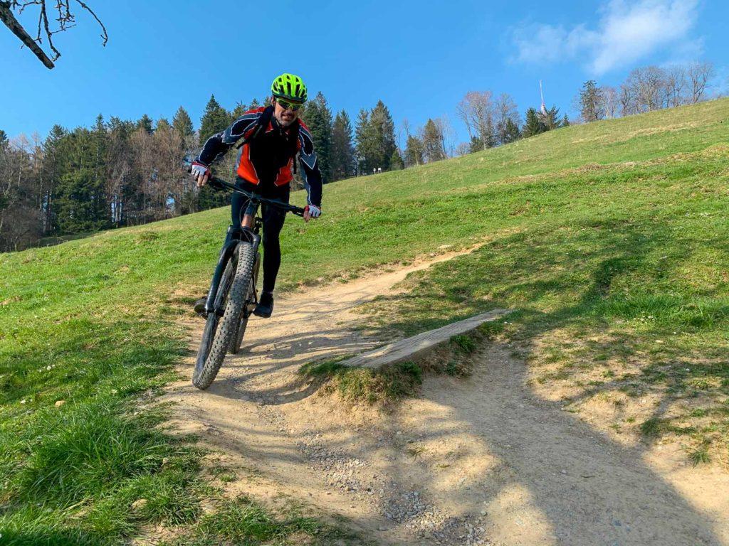 Andi im Downhill vom Bachtel